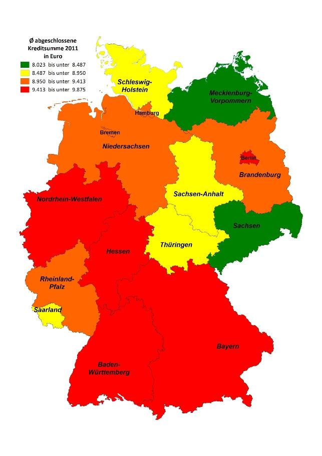 Kreditatlas Bundeslander Im Kreditvergleich Check24